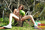 Tranny fucks watermelon