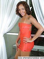 Ebony Shemale Nextdoor In Dress Undressing