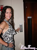 Pretty Curly Haired Latin Tranny Kissing