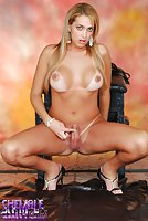 Blond Tranny With Big Tits Poses Nude