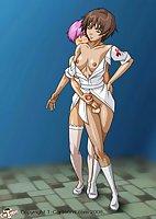 Shemale Nurse In Stockings Assfucking Cartoon