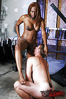 Black shemale mistress Brownie in action