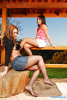 Pati Colt & Suzane shemale and a horny girl