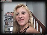 Sexy shemale fuck a blonde whore