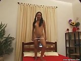 Playful Tgirl hot strip