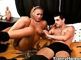 Busty Tranny Analed Before Titfuck