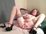 Filthy Crossdresser Jacking Off Hot