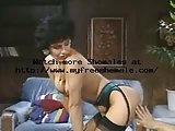 Kinky Brunette Tranny In Stockings Gets Ass Pounded