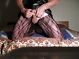 Homemade crossdresser wanking