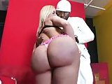 Ebony guy drills Tgirls big ass