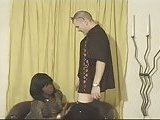 Vintage black tranny bonking a white dude