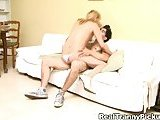 Dude and lustful blonde copulation