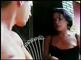 Mutual ass fucking with horny brunette TS