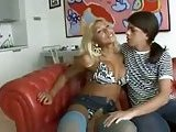 Fucking with hot blonde tranny