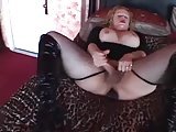 Super busty TS selftoying and masturbating