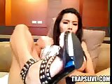 Gorgeous Asian With Cock Pump