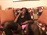 Oral and anal pleasure for an ebony Tgirl