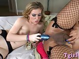 Horny shemale Vaniity fucked with dildo