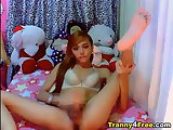 Asian Tranny Cock Masturbation