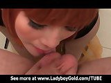 Petite ladyboy rides with a delight