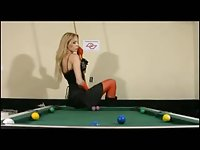 Shemale Solo On Pool Table