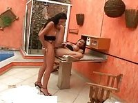 Latina trannies screwing poolside