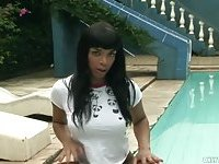 Crazy summer of a busty tranny girl
