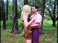 Hot meeting in the forest for anal sex