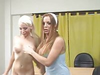Tranny nails blonde babe in doggy style