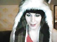 Teen brunette tranny webcam solo