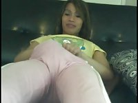 Happy Asian TS shows her butthole on the webcam