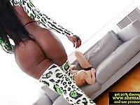 Ebony tranny Jackeline Boing Boing rimmed