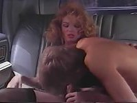Car sex with mature tranny