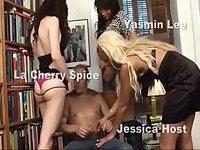 One guy and three Tgirls