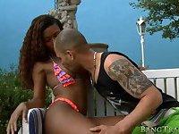 Black tranny Viviane Silva anal pounded