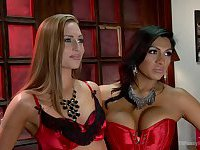 Jessy Dubai and Roxy Rox tranny and chick fun