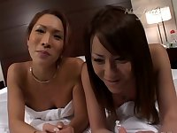 Hime Tsukino and Nana Suzuki petting and fucking