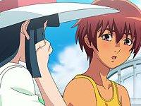 Natsuyasumi blowjob cartoon scenes