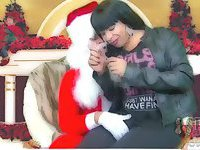 Santa eats Tgirls prick