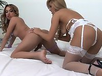 Guy Fucked Hard at Threesome with Tranny and Girl
