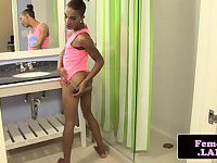 New ebony TS jerks on film for firsttime