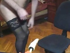 Fetish Solo By A Skillful Crossdresser at gotranny.com