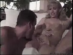 Hot blonde TS in trio at gotranny.com