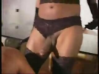Ebony T-girl Plays With Guy