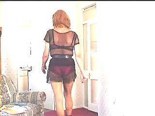 Dressed Crossdresser Posing Solo