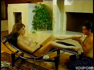 Vintage TS likes domination and foot fetish