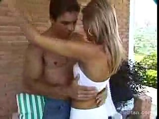 Skinny TS Gets Analed Outdoors