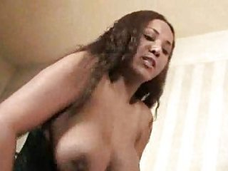 Busty titty tranny fucks white guy