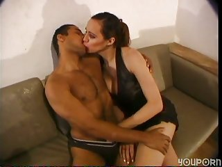 Latino guy & Tgirl ass drilling