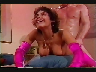Vintage fucking with shemale in pink stockings